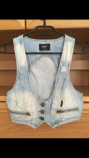 Only Gilet en jean bleu clair