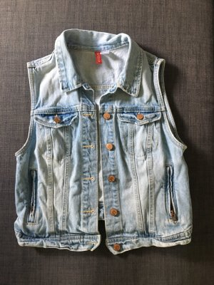 H&M Divided Denim Vest pale blue-azure
