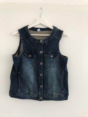 M&S Gilet en jean bleu