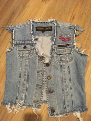 Freeman t. porter Denim Vest steel blue cotton