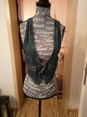 Denim Vest dark blue