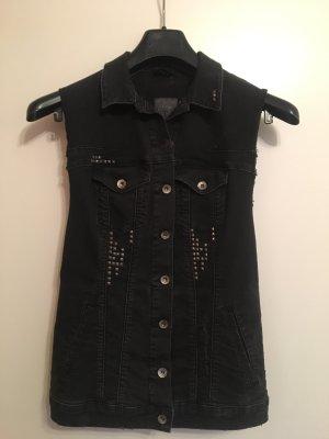 Guess Gilet en jean noir