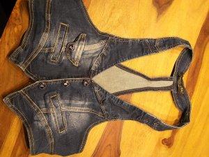 Gilet en jean multicolore