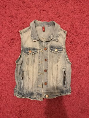 H&M Denim Vest white-azure