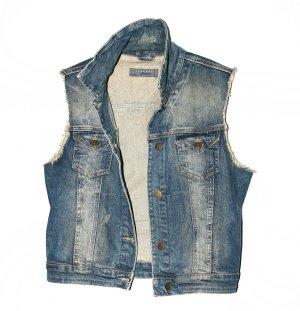 Zara Smanicato jeans blu scuro Cotone