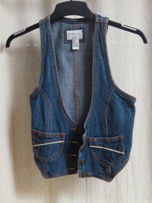 Jeans-Weste mit Knöpfen