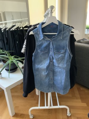 H&M Denim Vest multicolored cotton