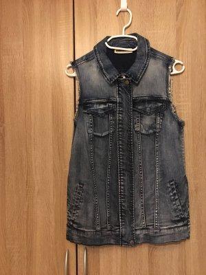 Jeans Weste Used Look