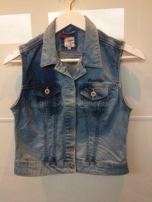American Vintage Denim Vest light blue-blue