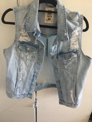 Gina Tricot Denim Vest azure cotton