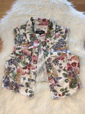 Madonna Smanicato jeans multicolore