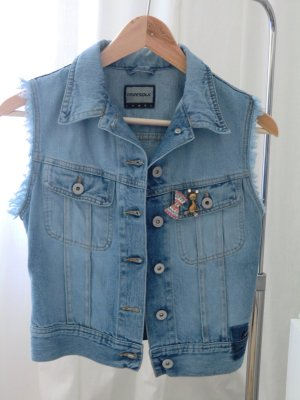 Jeans-Weste Weste aus Denim destroyed used Look Blogger *InStyle Juni*