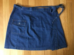 Falda cruzada azul Algodón
