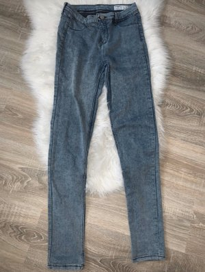 Zara Stretch Jeans steel blue-white