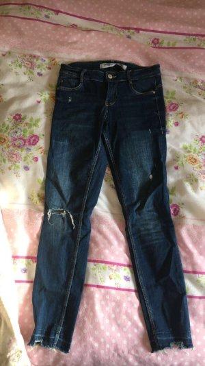 Zara Trafaluc Low Rise jeans donkerblauw