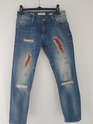 Zhrill 7/8-jeans staalblauw-korenblauw Gemengd weefsel