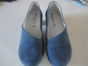 Jeansblaue WIldlederpumps in Gr. 38