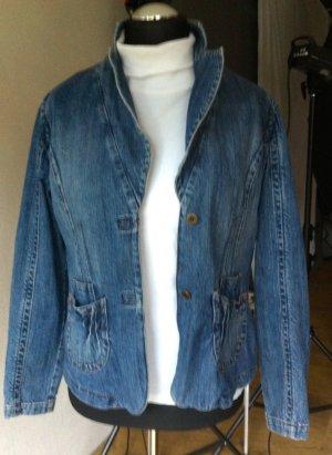 Gläser Blazer en jean bleu coton