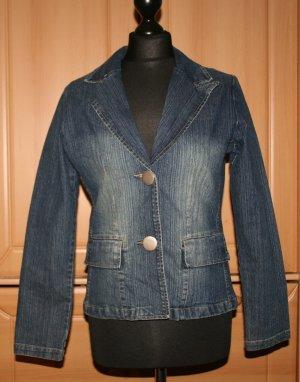 Blazer en jean bleu tissu mixte