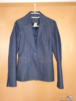 Jeansblazer Blazer Streifen 36 Jeansjacke blau