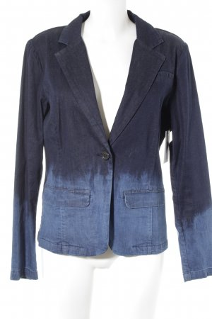 Denim Blazer dark blue color gradient casual look