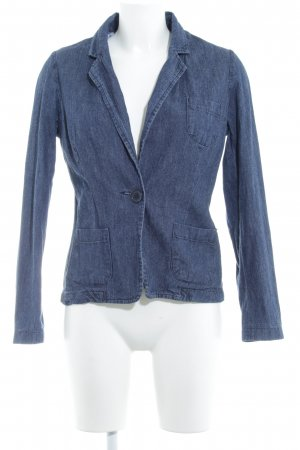 Denim Blazer dark blue flecked simple style