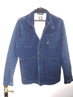 G-Star Raw Denim Blazer blue cotton
