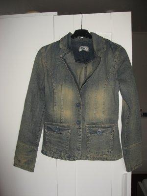 Jeansblazer im stone-washed Look Größe 34