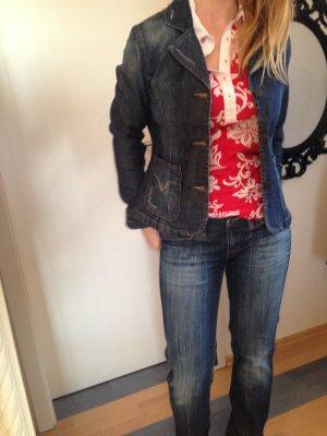 Jeansblazer, leicht tailliert, Madonna, Größe L