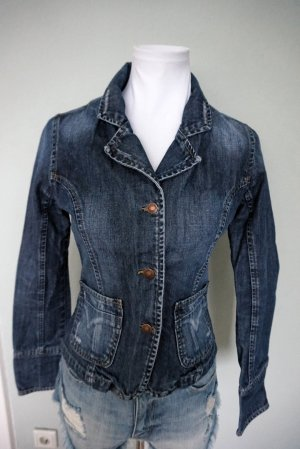 Madonna Denim Blazer dark blue cotton