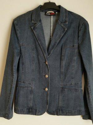 Blazer en jean bleu pâle tissu mixte