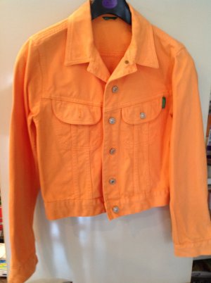 Jeansblouson, orange, Gr. S, von Benetton