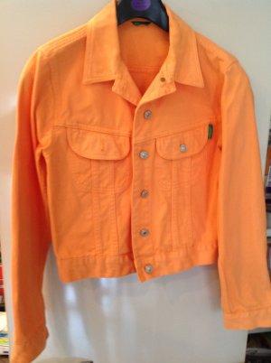Jeansblouson, orange, Gr. S, von Benetton