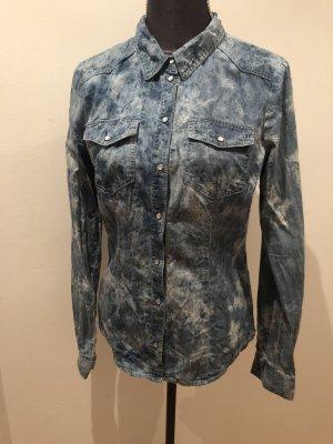 Only Blouse en jean bleu azur-bleuet coton