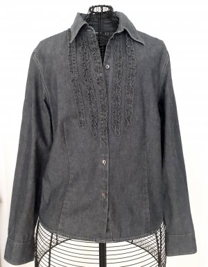 Mexx Jeans blouse donkerblauw