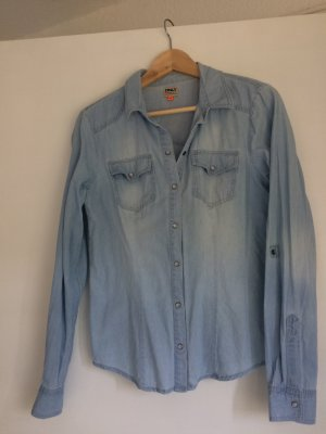 Only Jeans blouse korenblauw