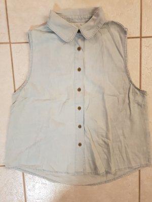 Denim Co. Blouse en jean bleu azur coton
