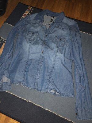 H&M Chemise en jean bleuet-bleu acier
