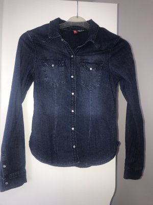 H&M Denim Blazer blue-dark blue