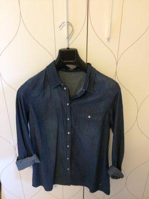 Zero Blouse en jean bleu foncé