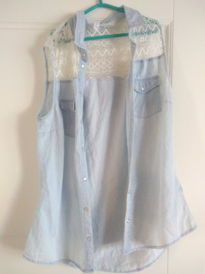Amisu Blouse Top light blue
