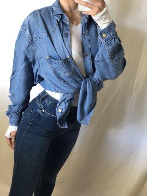 Dismero Jeans blouse veelkleurig