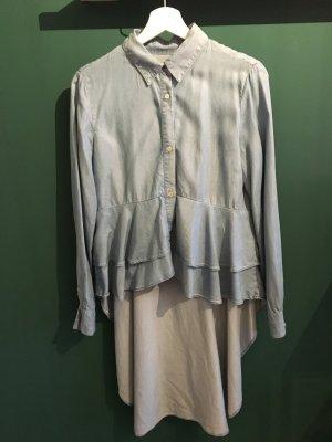 Zara Woman Denim Blouse azure lyocell