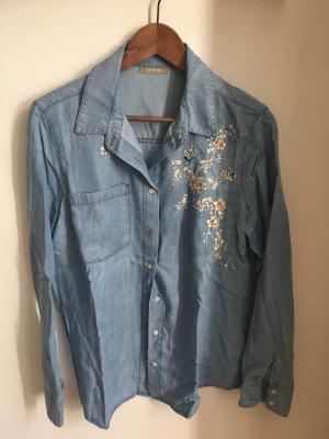 Orsay Blouse en jean bleu azur