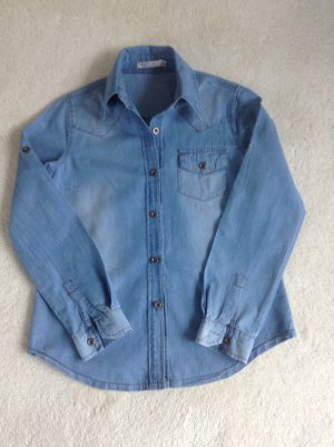 Jeansbluse / blau / Ge. S / Lessy