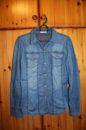 Jeansbluse dunkelblau