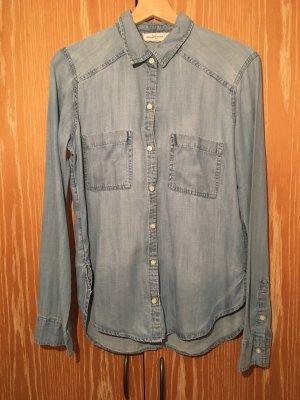 Abercrombie & Fitch Blouse en jean bleu clair