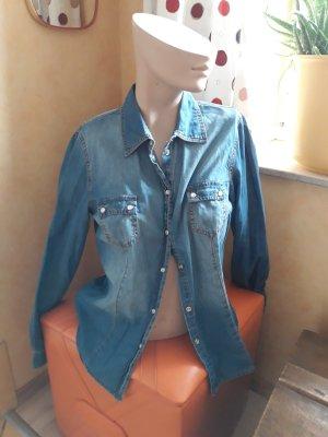 Jeans blouse azuur