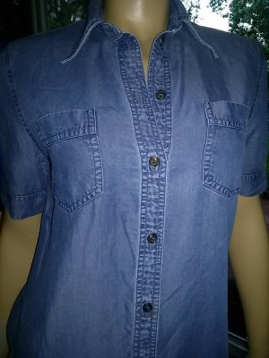 Authentic Denim Blouse steel blue cotton