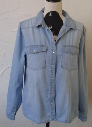 Jeansbluse Gr. 42
